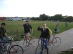The fixed gear crew shows up to join the fun pedal arounddowntown