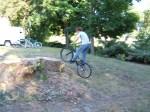Matt attacks the stump atspeed