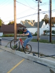 Greg tests the limits of rear wheel durability:-)