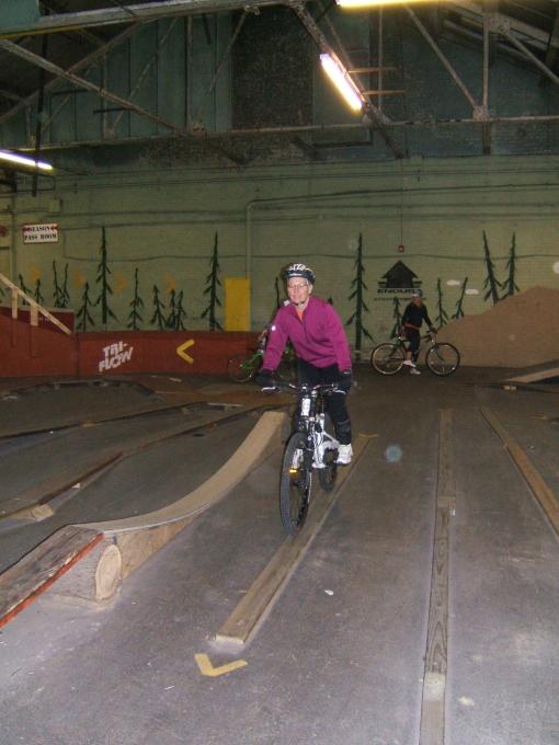 Terri rides the skinny