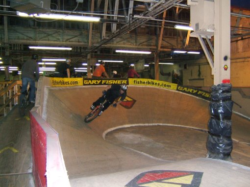 Nathan rails a turn on the pump track