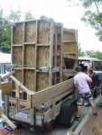 How to load an entire demo setup in a 4x8 trailer