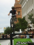 Matt Tomlinson lines up the drop